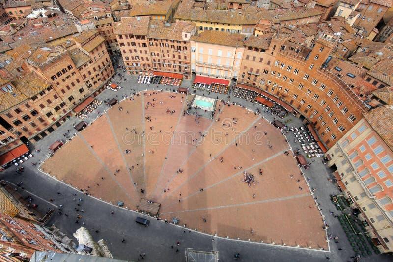 campo del Italy piazza Siena zdjęcia stock