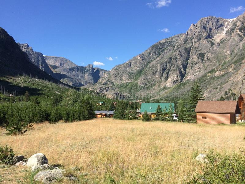 Campo del Montana fotografie stock libere da diritti