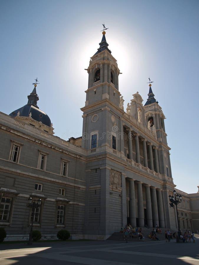 Campo Del Moro (nahe bei dem Palast real) in Madrid stockbilder