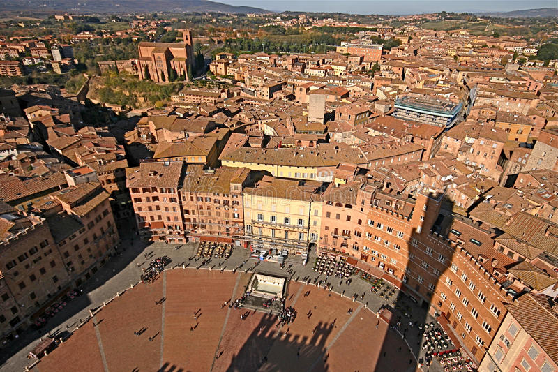 campo Del Piazza Siena obrazy royalty free