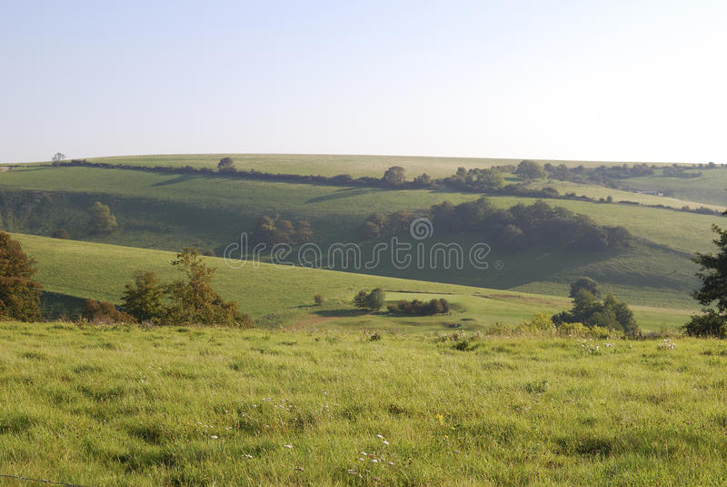 Campo del sur de las llanuras cerca de Worthing. Inglaterra foto de archivo