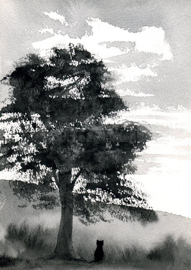 Campo dell'albero illustrazione vettoriale