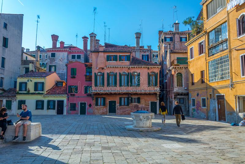 Campo della Maddalena i Venedig royaltyfri bild
