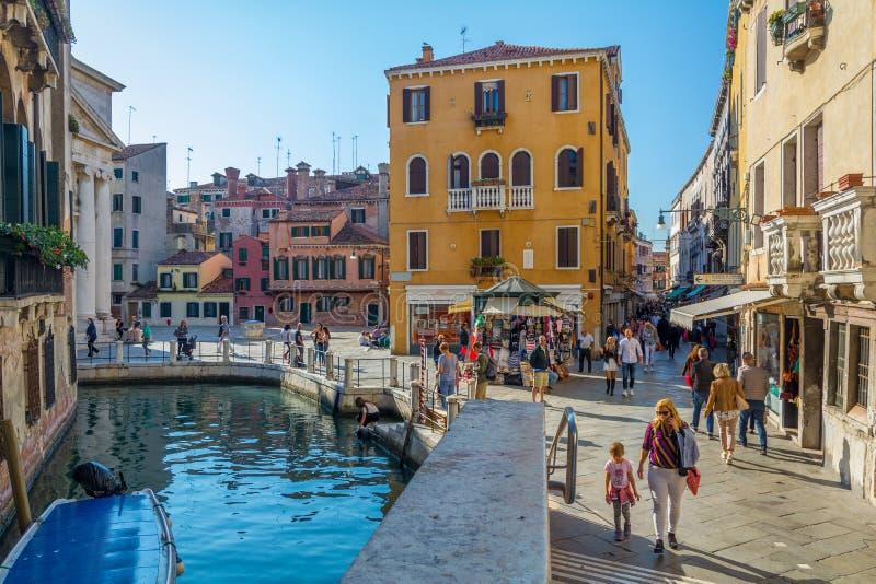 Campo della Maddalena i Venedig fotografering för bildbyråer