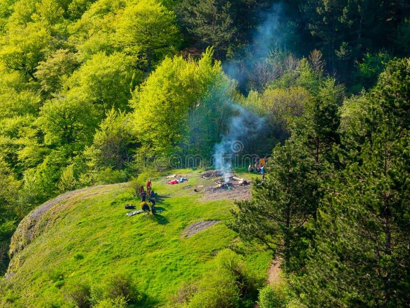 Campo delle viandanti in Crimea fotografie stock libere da diritti