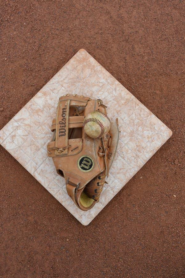 Campo di baseball fotografie stock