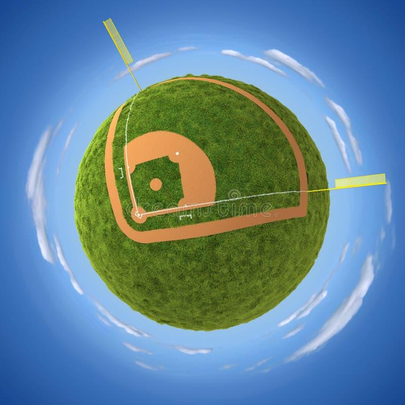 Campo di baseball royalty illustrazione gratis