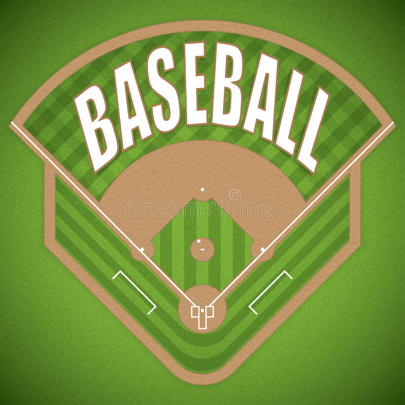 Campo di baseball illustrazione vettoriale