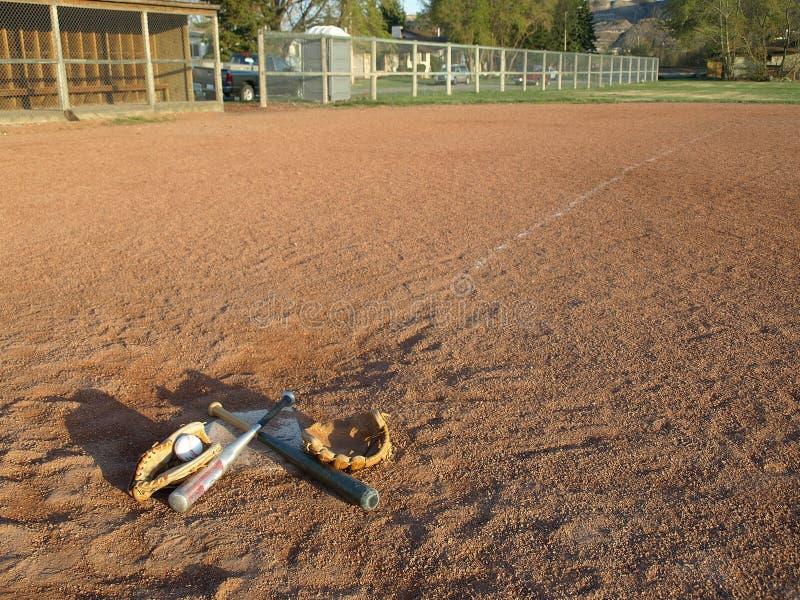 Campo di baseball. fotografia stock