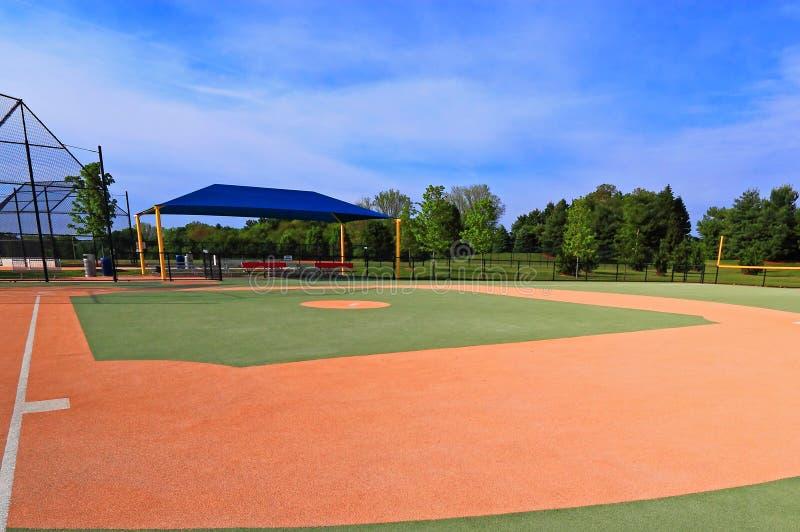 Campo di baseball sintetico fotografia stock
