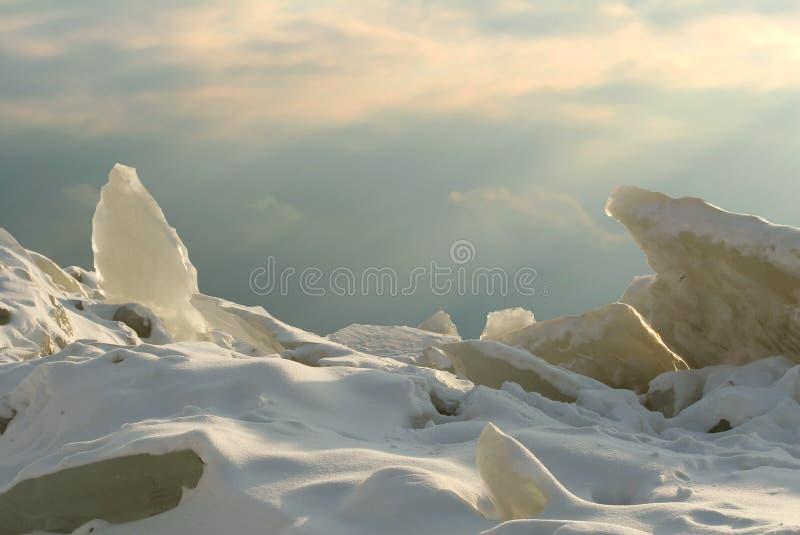 Campo di battaglia del ghiaccio fotografia stock