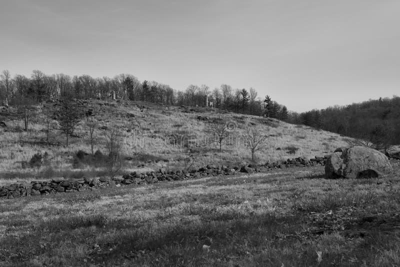 Campo di battaglia di Gettysburg poca cima rotonda immagine stock