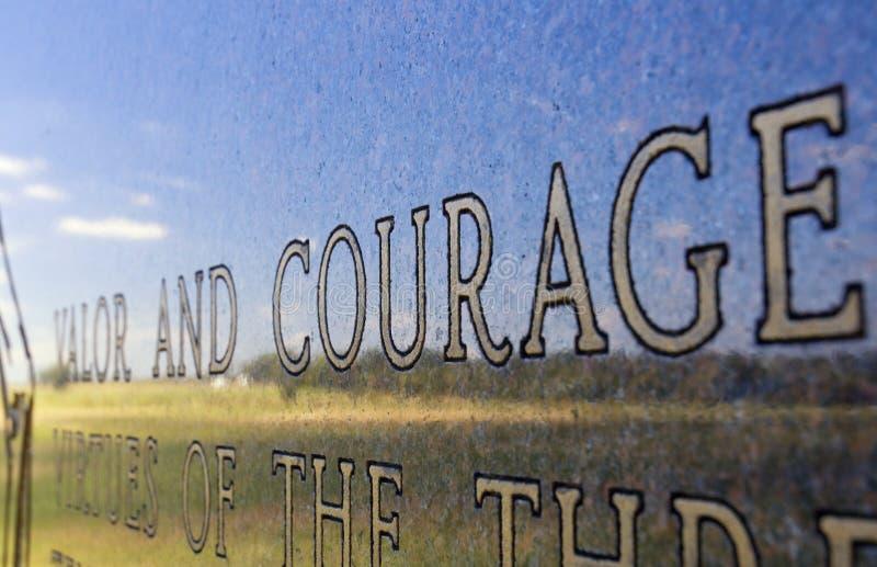 Campo di battaglia Pensilvania di Gettysburg del monumento di coraggio e di prodezza fotografia stock libera da diritti