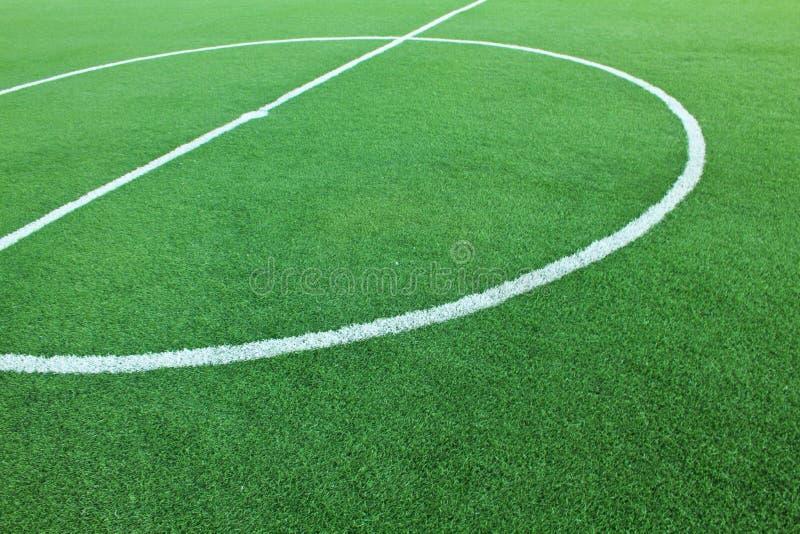 Campo di calcio artificiale dell'erba fotografia stock