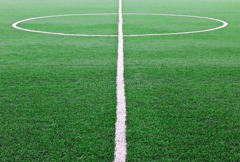 Campo di calcio artificiale dell'erba fotografie stock libere da diritti