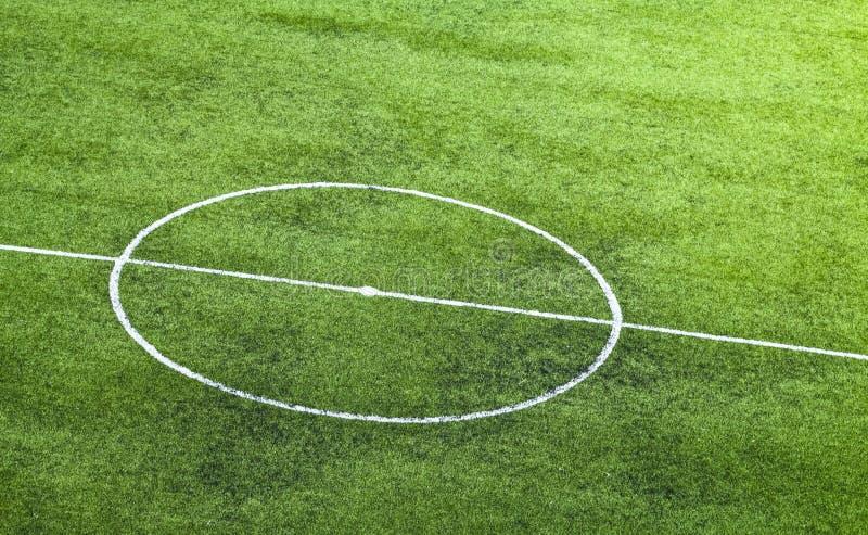 Campo di calcio artificiale dell'erba fotografia stock libera da diritti