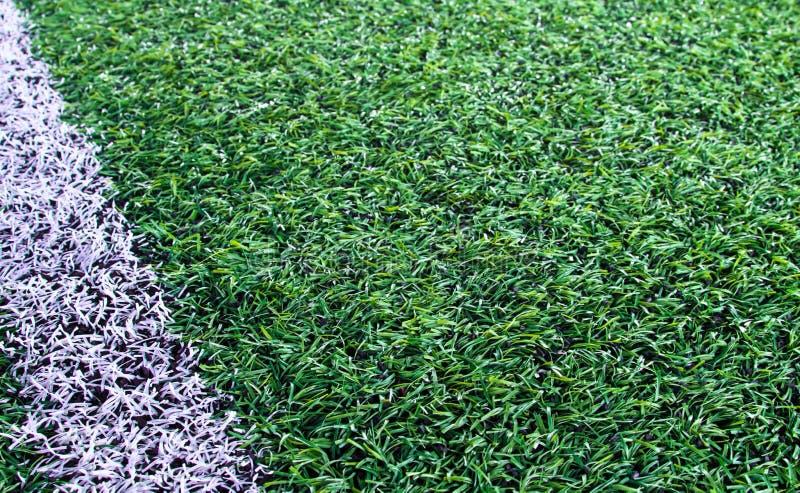 Campo di calcio artificiale dell'erba immagine stock libera da diritti