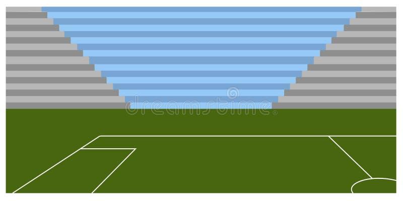 Download Campo Di Calcio Dentro Uno Stadio Illustrazione Vettoriale - Illustrazione di bandierina, calcio: 117979939