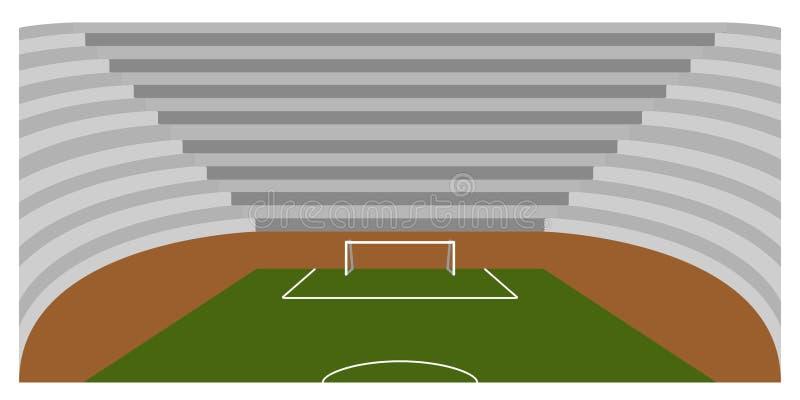 Download Campo Di Calcio Dentro Uno Stadio Illustrazione Vettoriale - Illustrazione di vettore, background: 117979940