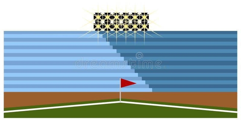 Download Campo Di Calcio Dentro Uno Stadio Illustrazione Vettoriale - Illustrazione di bandierina, campionato: 117979944