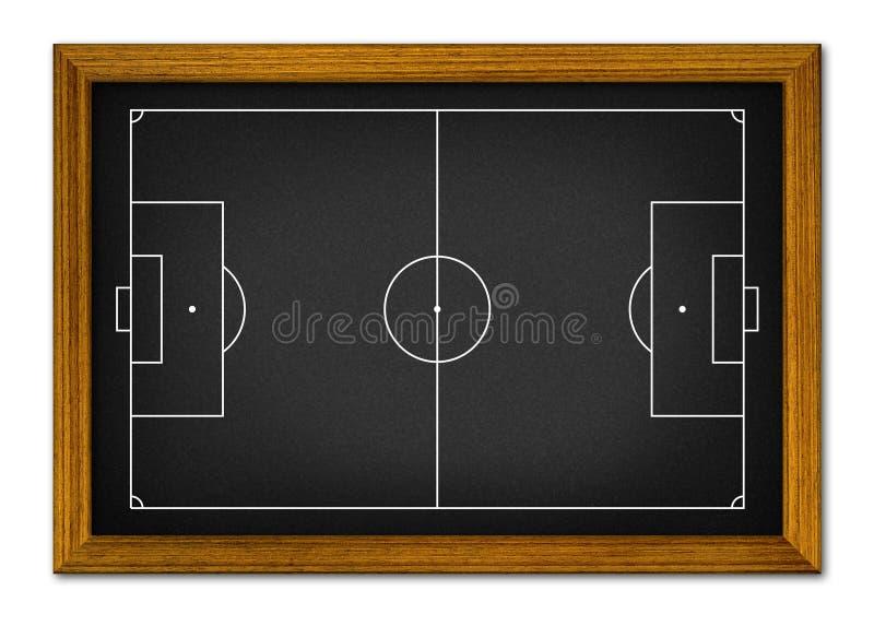Campo di calcio nel telaio di legno. illustrazione vettoriale