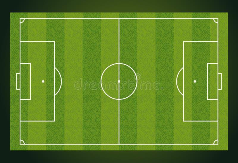 Campo di calcio, stadio di football americano europeo Corte per il gioco di sport Vettore royalty illustrazione gratis