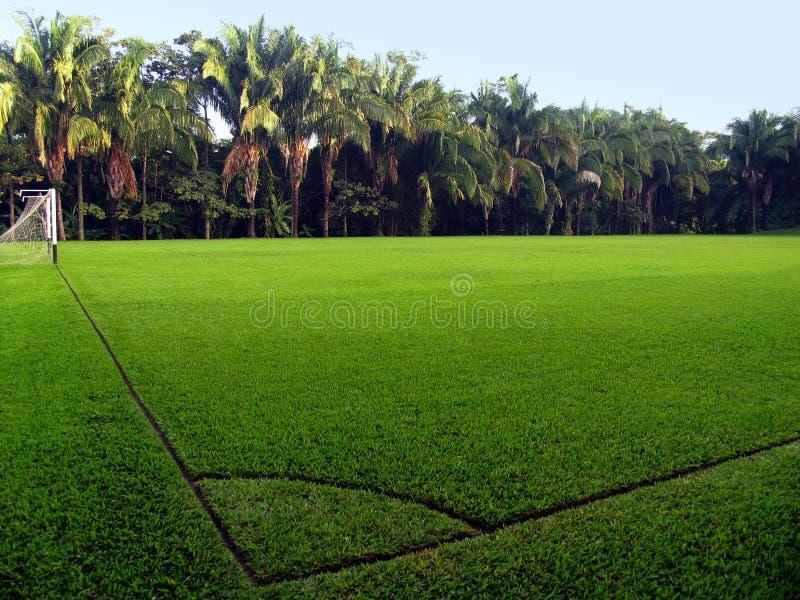 Campo di calcio vuoto fotografie stock libere da diritti