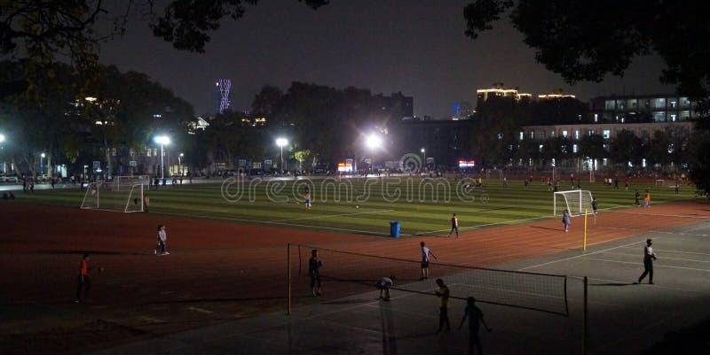 Campo di calcio a Wuhan China fotografia stock