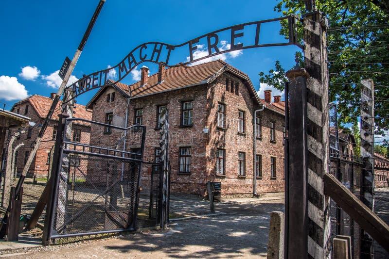 Campo di concentramento di Auschwitz Birkenau Polonia durante la guerra mondiale 2 fotografia stock libera da diritti