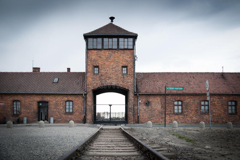 Campo di concentramento di Auschwitz Birkenau fotografie stock libere da diritti