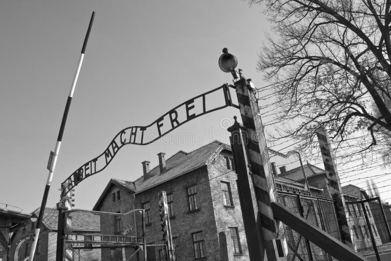 Campo di concentramento di Auschwitz - Polonia fotografie stock