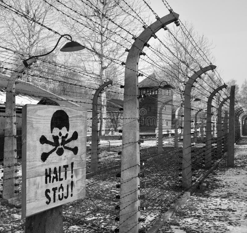 Campo di concentramento nazista di Auschwitz - Polonia fotografia stock
