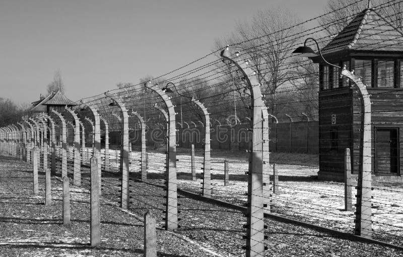 Campo di concentramento nazista di Auschwitz - Polonia fotografie stock