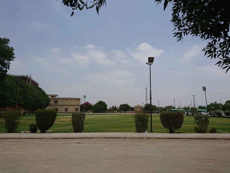 Campo di cricket fotografia stock