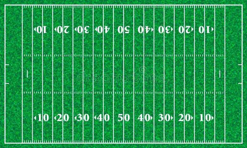 Campo di football americano illustrazione di stock