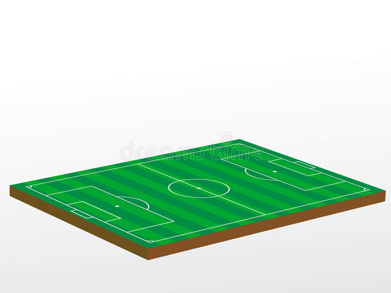 campo di football americano 3D illustrazione vettoriale