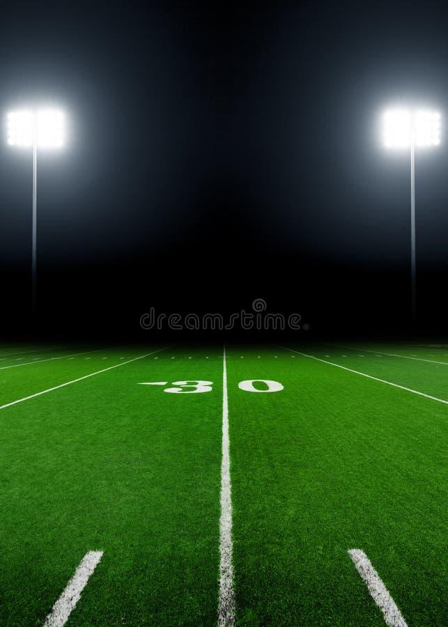 Campo di football americano fotografie stock
