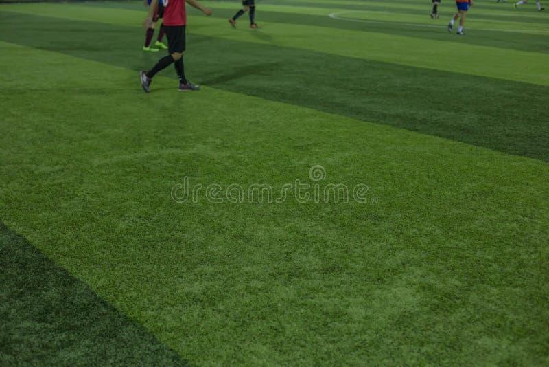 Campo di football americano artificiale dell'erba di sport immagine stock libera da diritti