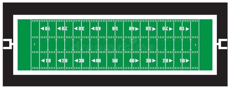 Campo di football americano del Nfl royalty illustrazione gratis