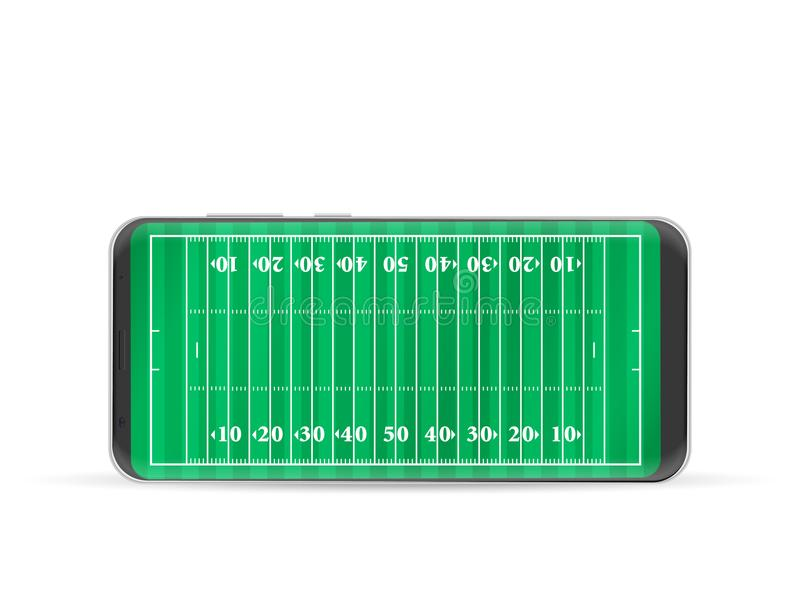 Campo di football americano dello Smart Phone illustrazione vettoriale