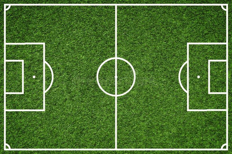 Campo di football americano, immagine del primo piano del campo di calcio naturale dell'erba verde fotografia stock