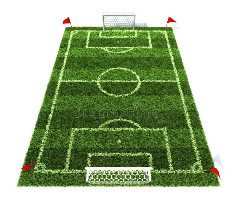 Campo di football americano isolato su priorità bassa bianca illustrazione vettoriale