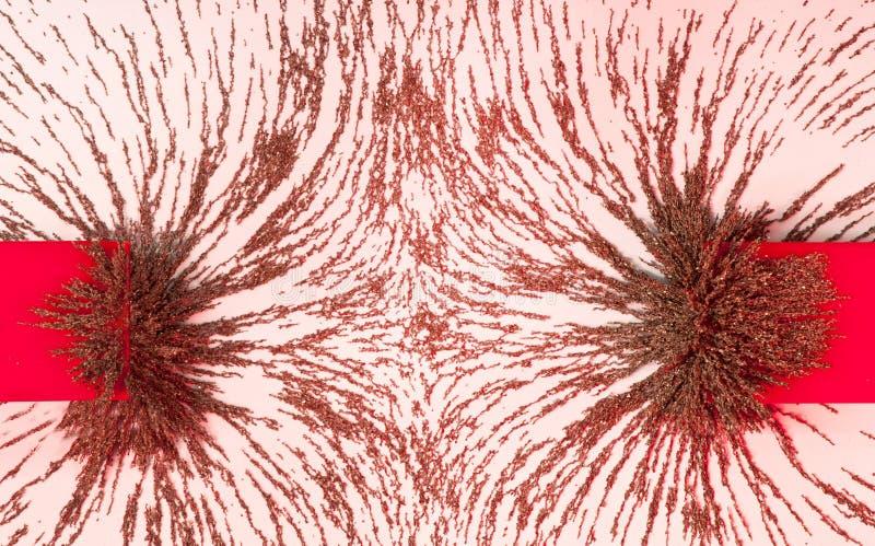 Campo di forza magnetico di repulsione. immagine stock libera da diritti