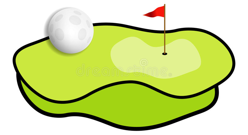 Campo di golf royalty illustrazione gratis