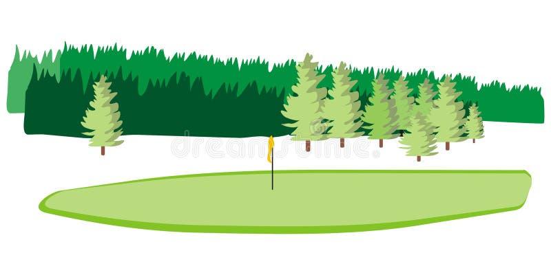 Campo di golf illustrazione vettoriale
