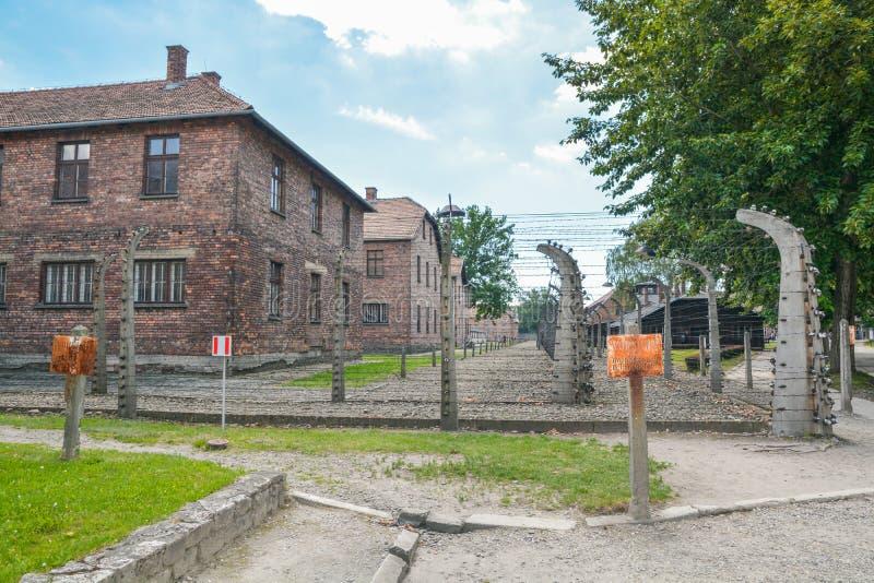 Campo di sterminio di Auschwitz immagini stock libere da diritti