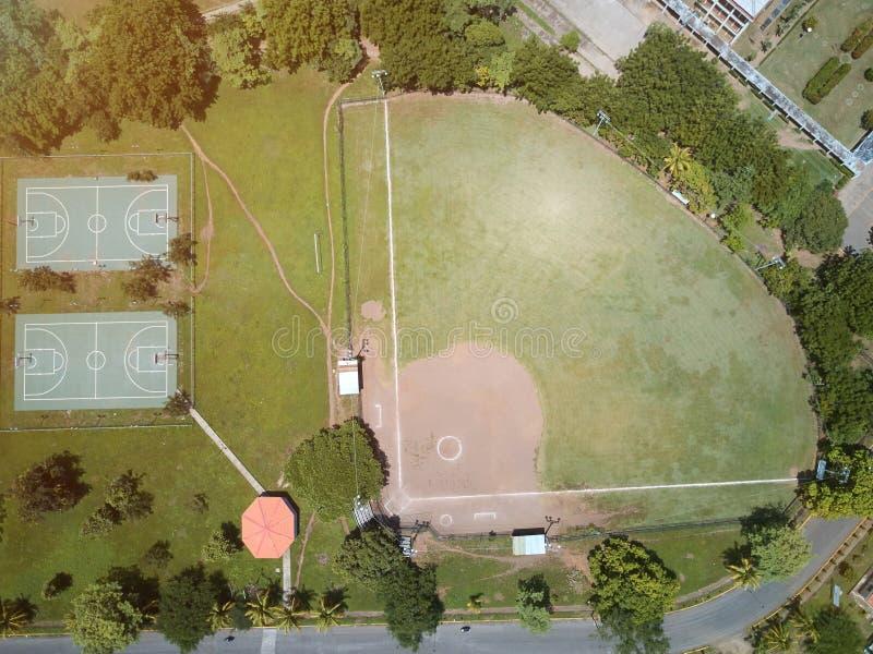 Campo differente di verde di sport fotografia stock