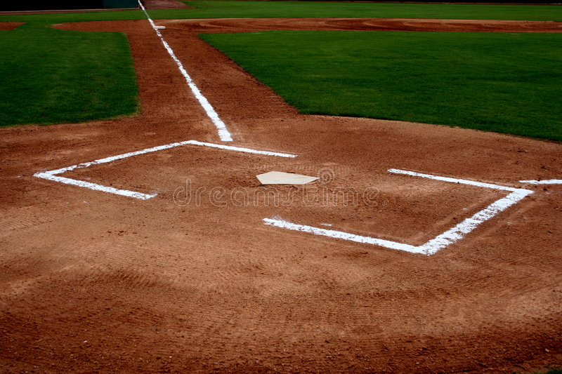 Campo do basebol fotografia de stock royalty free