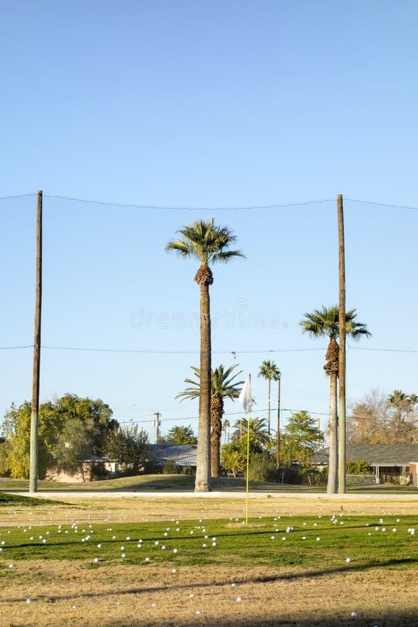 Campo do campo de golfe imagens de stock