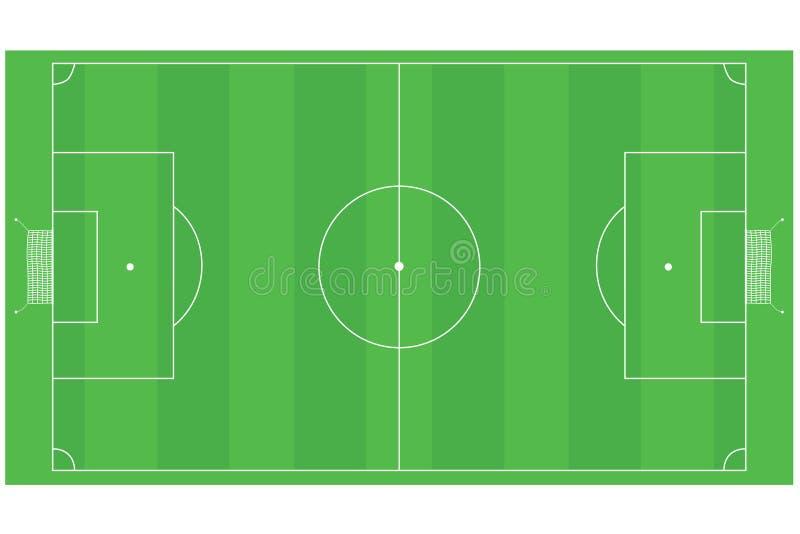 Campo do futebol (futebol) ilustração royalty free